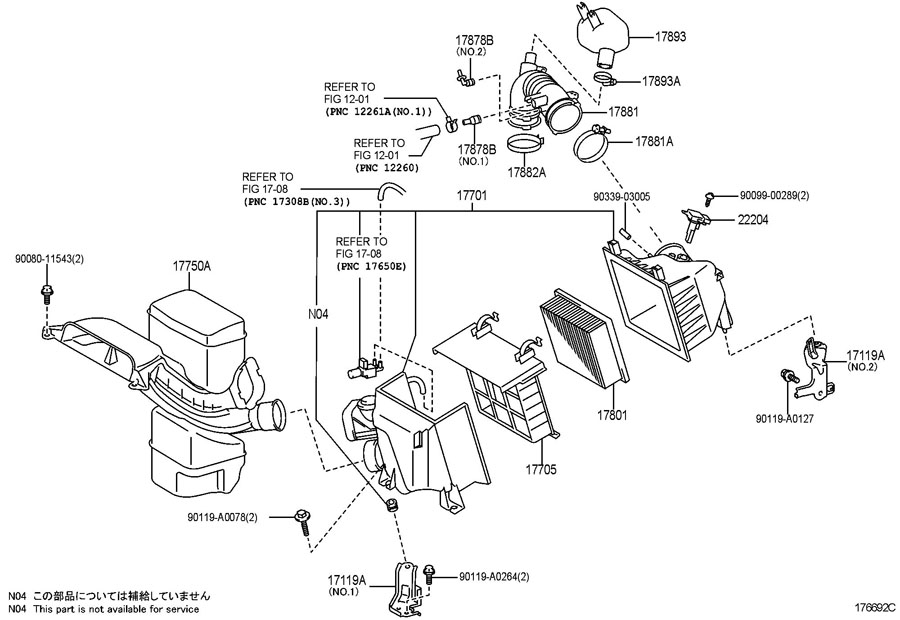 lexus air cleaner. Black Bedroom Furniture Sets. Home Design Ideas