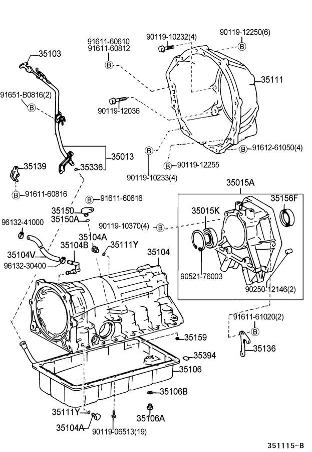 2003 lexus lx470 transmission case oil pan atm. Black Bedroom Furniture Sets. Home Design Ideas