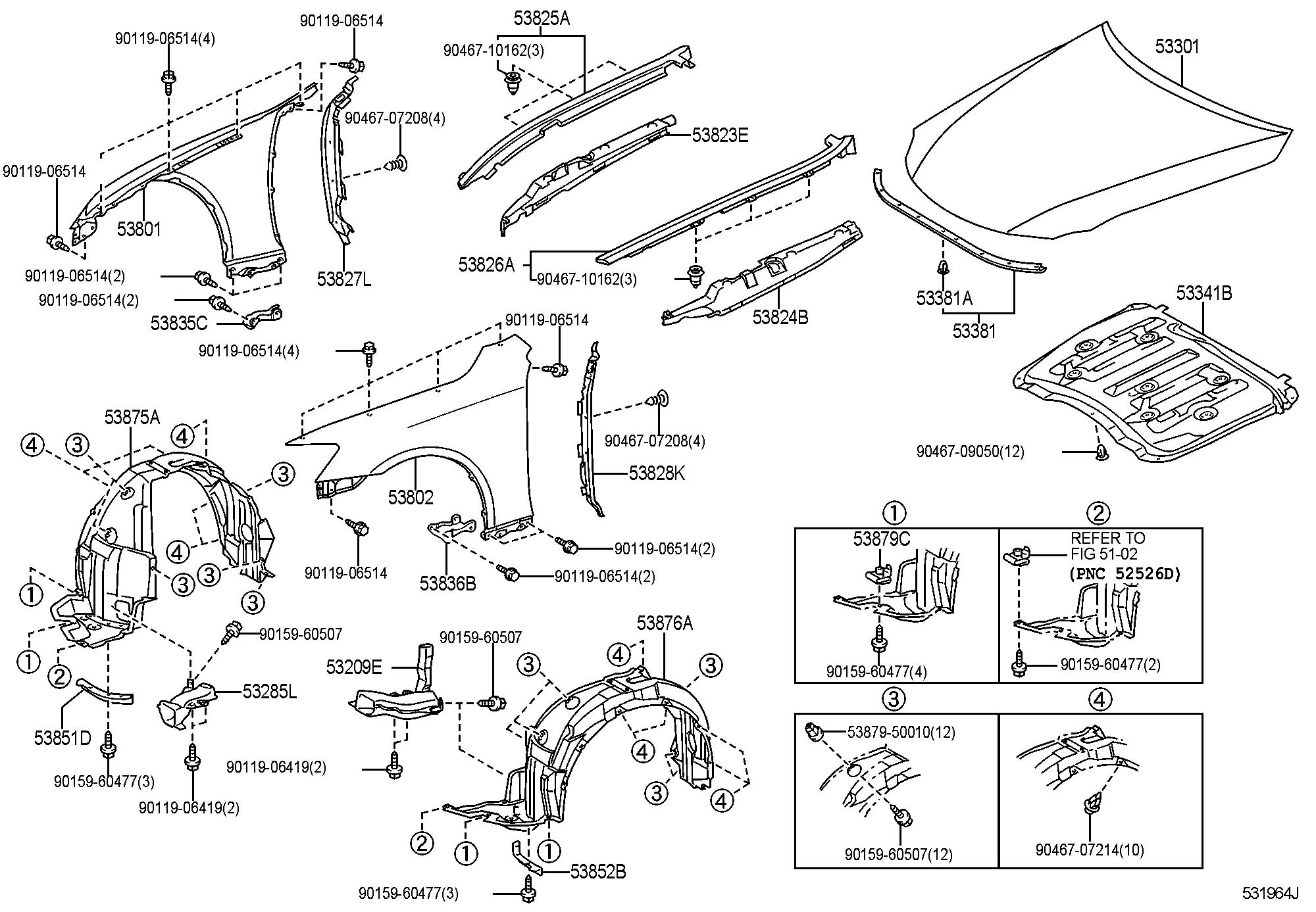 2012 lexus is250 hood  u0026 front fender