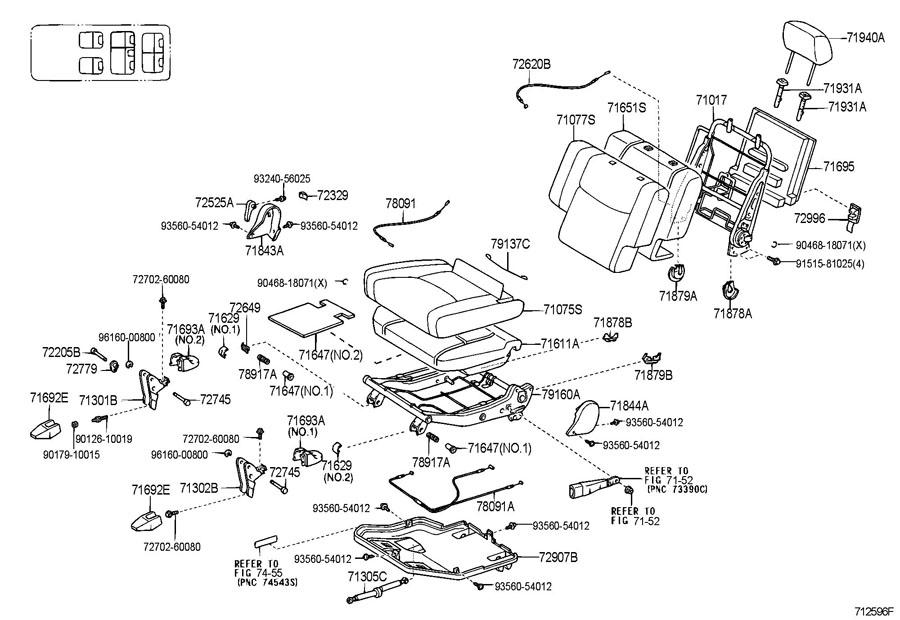 2005 lexus gx470 5 door 4700cc 32 valve dohc efi automatic 5 speed seat seat track. Black Bedroom Furniture Sets. Home Design Ideas