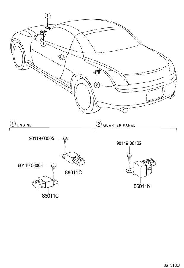2006 lexus sc430 radio receiver amplifier condenser. Black Bedroom Furniture Sets. Home Design Ideas