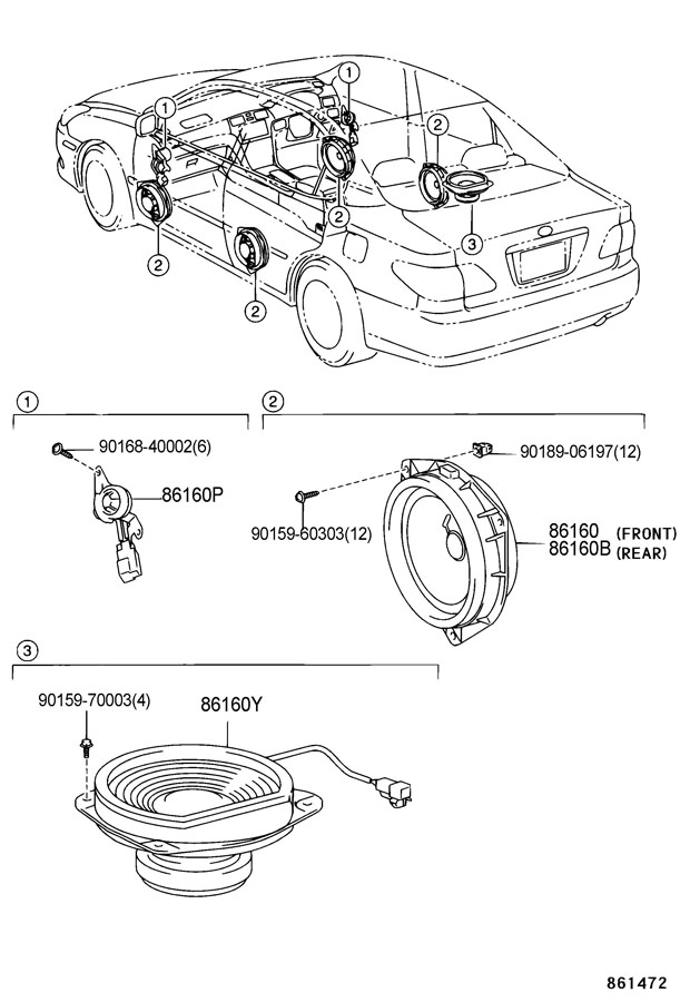 lexus 2002 es300 speakers diagram free engine image  lexus