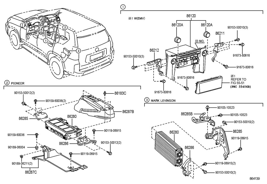 2011 lexus gx460 radio receiver amplifier condenser. Black Bedroom Furniture Sets. Home Design Ideas